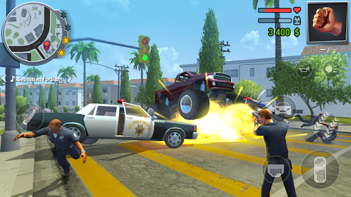 Gangs Town Story - action open-world shooter apkpoly screenshots 13
