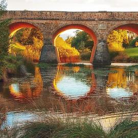 Richmond bridge at sunrise by Cora Lea - City,  Street & Park  Historic Districts (  )