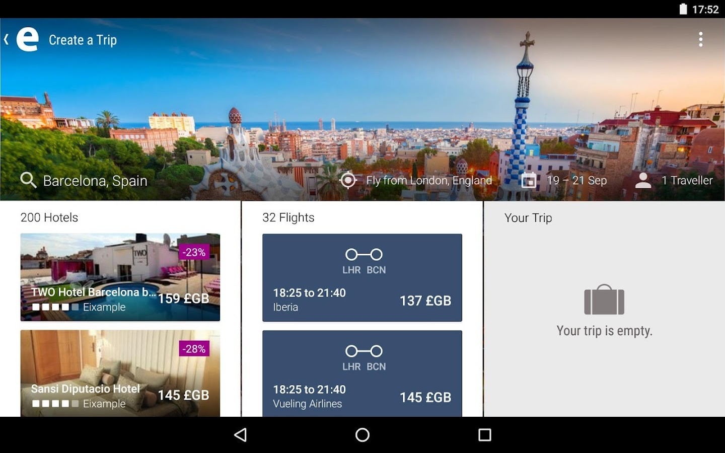 ebookers: Hotel, Flights, Cars- screenshot