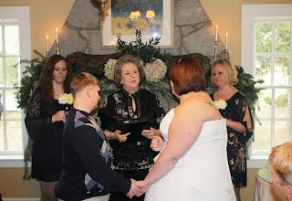 Photo: same sex wedding, same gender wedding, lesbian wedding, gay wedding  http://WeddingWoman.net