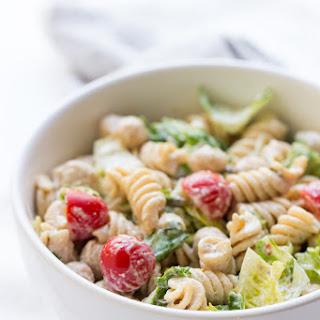 Vegan Caesar Pasta Salad