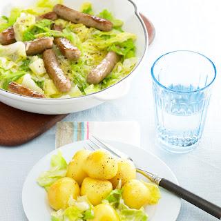 Bratwurst-Spitzkohl-Pfanne