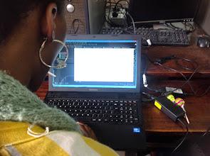 Photo: A lady developer @ Mbarara University