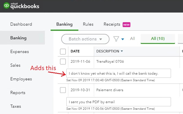QBO banking notes