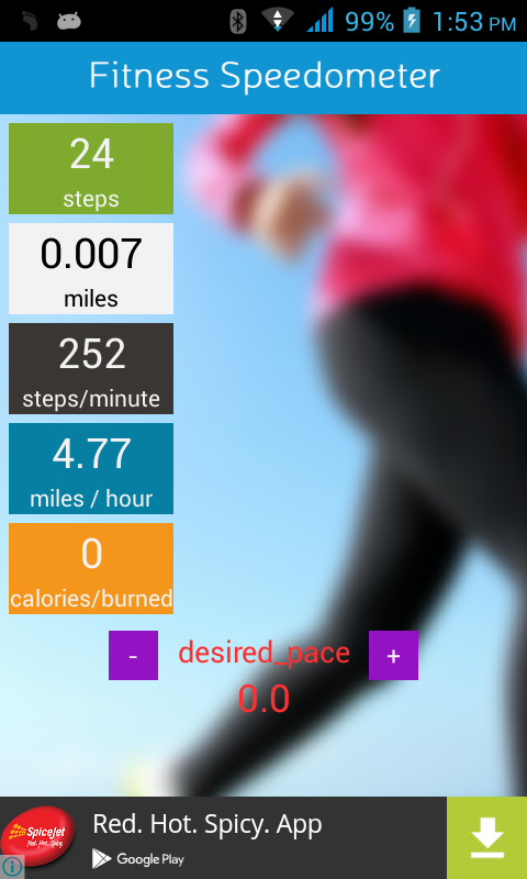Fitness Speedometer- screenshot