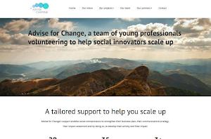 création de site internet réalisée par advice for change