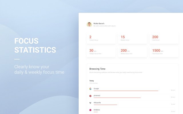 Tide focus and productivity app