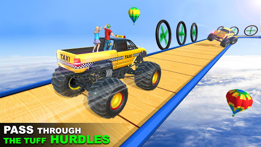 Mega Ramp Monster Truck Taxi Transport Games modavailable screenshots 1