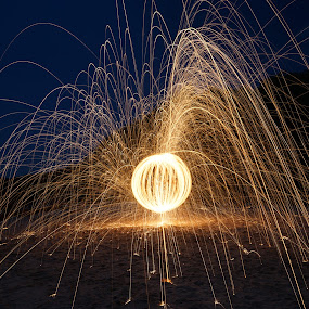 Fireball by Billy C S Wong - Abstract Light Painting ( light painting, file, fireworks, motion, light,  )