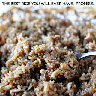 Stick of Butter Rice- the best rice you'll ever eat.