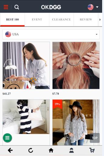 無料购物Appの韓国最高のブランドが集まっているOKDGG HotApp4Game