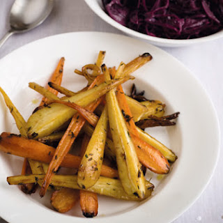 Gordon Ramsay's honey-glazed carrots and parsnips