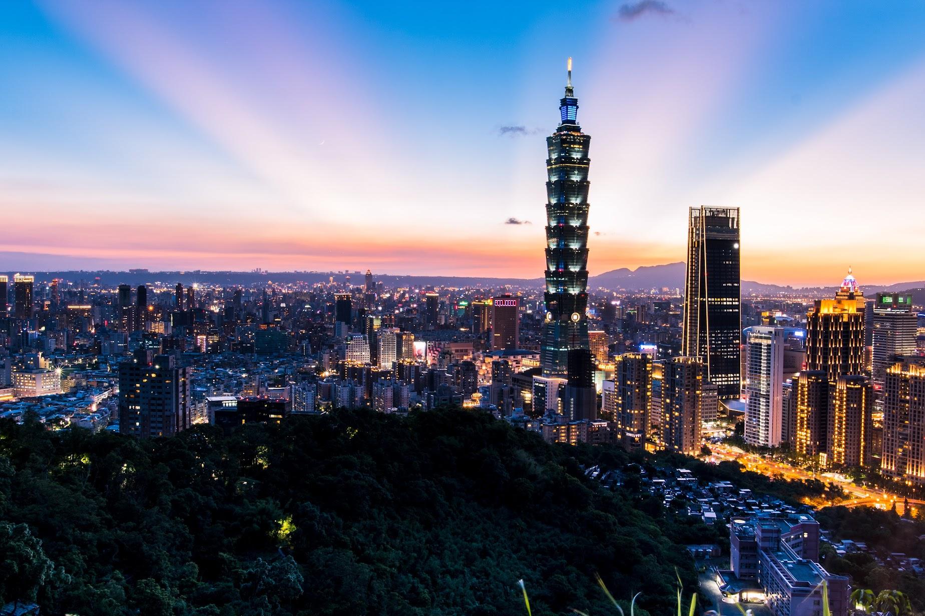 台北象山夜景是台北攝影人最喜歡的景點之一。