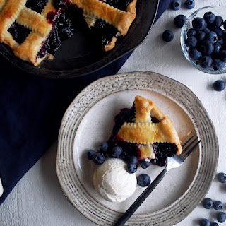 Classic Homemade Blueberry Pie.