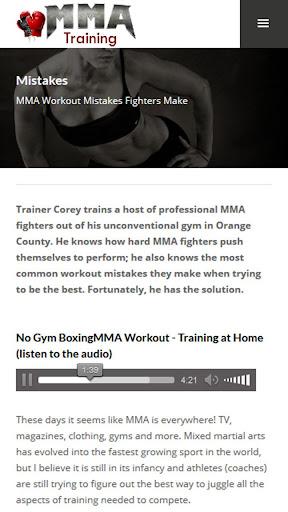 MMA Training and Fitness 1.0 screenshots 2