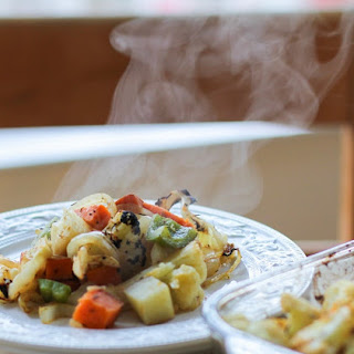 Cajun Seasoned Roasted Vegetables.