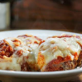 Low Carb Pizza Meatball Casserole.