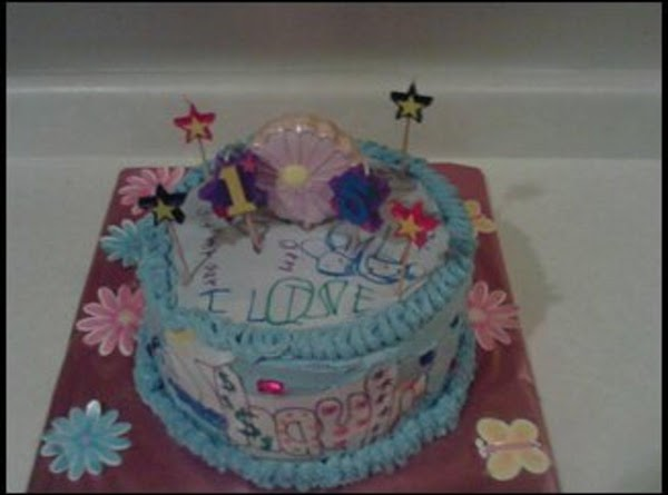 This is another view of the cake.