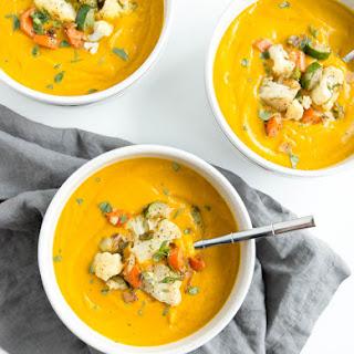 Spicy Vegan Pumpkin Soup.