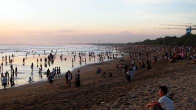 Photo: Busy Kuta Beach