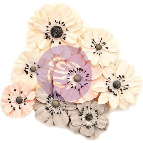 Prima Spring Farmhouse Mulberry Paper Flowers 8/Pkg - Simplify UTGÅENDE