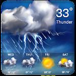 Clock &Weather widget daily forecast free Icon