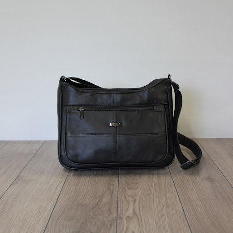 Handväska Shopper i lammnappa