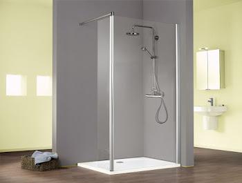 Paroi de douche fixe à l'italienne Walk In, Solo, avec élément pivotant