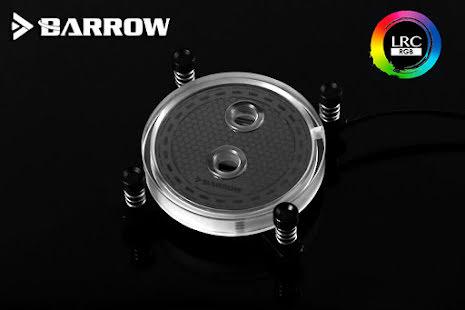 Barrow CPU-vannblokk, Rays Edition, RGB, nickel/plexi, Intel 115X