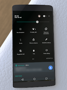 Substratum Theme Black aospUI +Samsung, Pie, Lite Screenshot