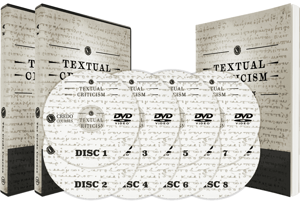 8 DVDs and 1 Workbook Bundle Image for Textual Criticism
