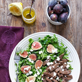 Balsamic Steak with Fig & Arugula Salad