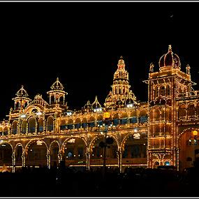 Mysore Palace by Manabendra Ghosh - Buildings & Architecture Public & Historical ( lighting, celebration, palace, light, historic )