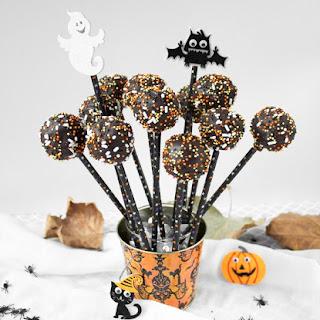 Spooky Chocolate Cake Pops.