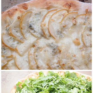 Pear, Gorgonzola, and Arugula Flatbread