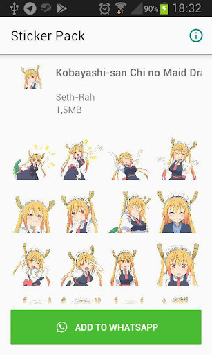 Screenshot for SethDistro Anime WAStickerApps 1 in Hong Kong Play Store