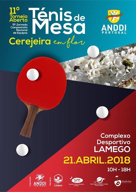 Ténis de Mesa - 11º Torneio Aberto - Cerejeira em Flor - 2018