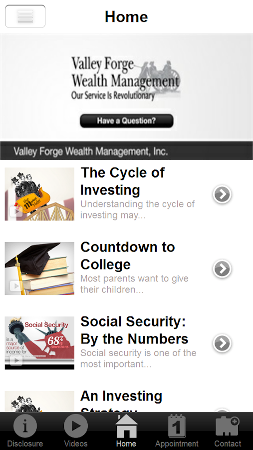 Valley Forge Wealth Management- screenshot