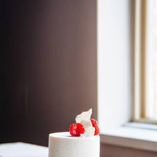 Raspberry and Vanilla Bean Mousse Cake.