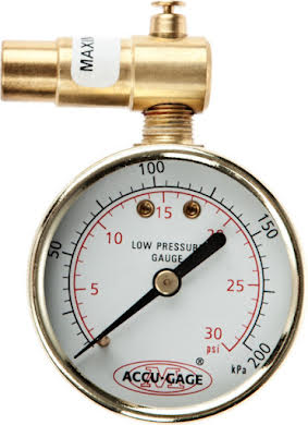 Meiser 30psi Presta-Valve Dial Gauge with Pressure Relief alternate image 1