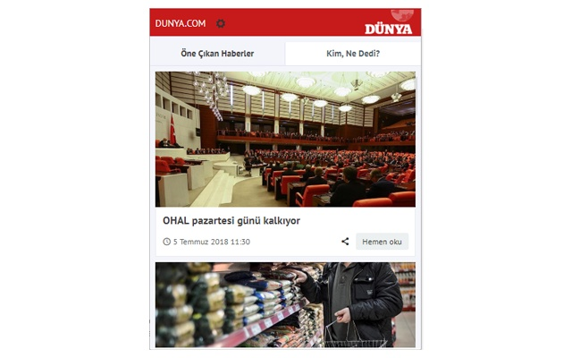DÜNYA Gazetesi - Dunya.com