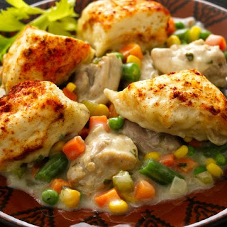 Chicken and Dumplings with Vegetables.