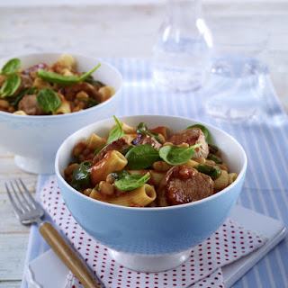 Rigatoni with Pork and Beans