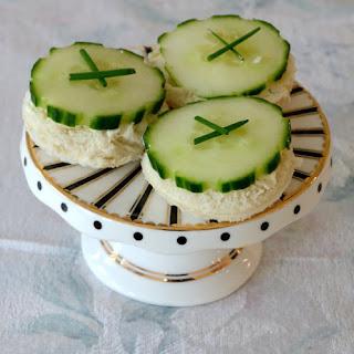 Open Faced Cucumber Tea Sandwiches.