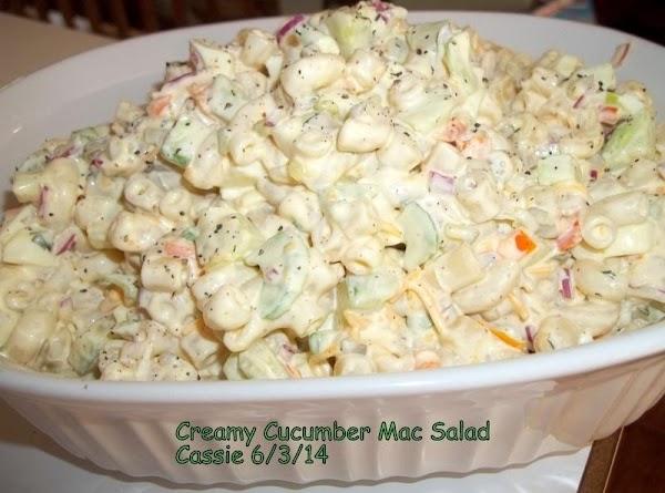 Creamy Cucumber Mac Salad Recipe