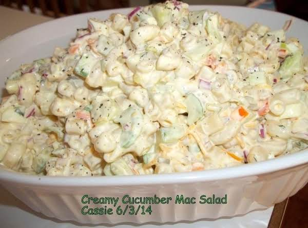 Creamy Cucumber Mac Salad Recipe