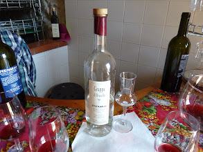 Photo: Grappa, distilled liquor from grapes residue left over with wine making