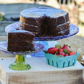 Salted Caramel Chocolate Cake with Ganache!