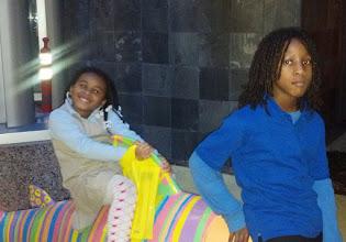 Photo: Kaleya and family friend 2/2/12