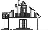 Domek Lipowy szkielet drewniany 020 JK V3 - Elewacja prawa